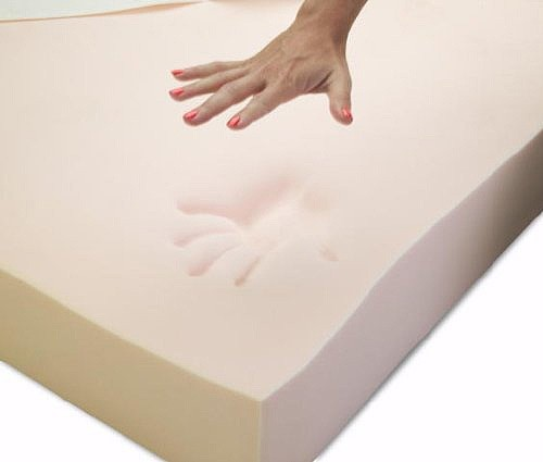 Imprint of hand on memory foam.