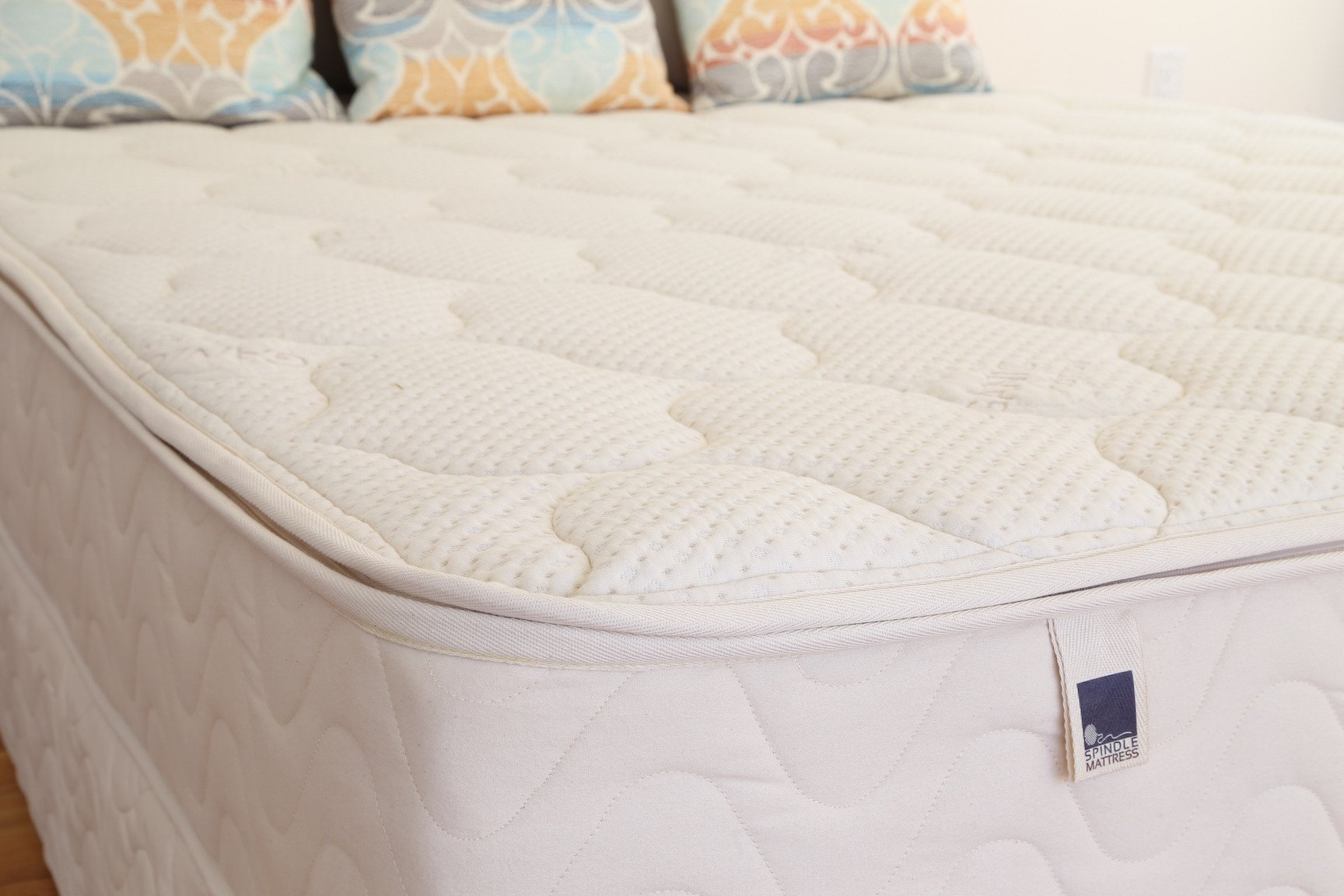 The Spindle latex core (all-latex) mattress comes with a zippered cover so that you can access and switch around the latex layers to get different firmnesses.