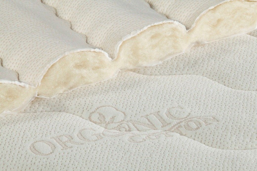The cotton cover on the Idle Sleep Latex is quilted together with woll.