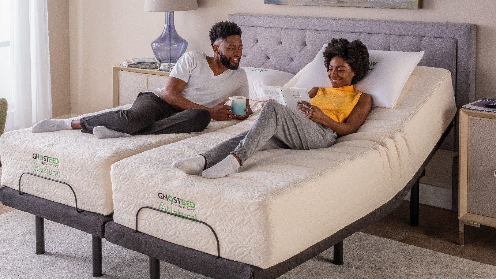 Ghost Bed Natural Review Split King Model