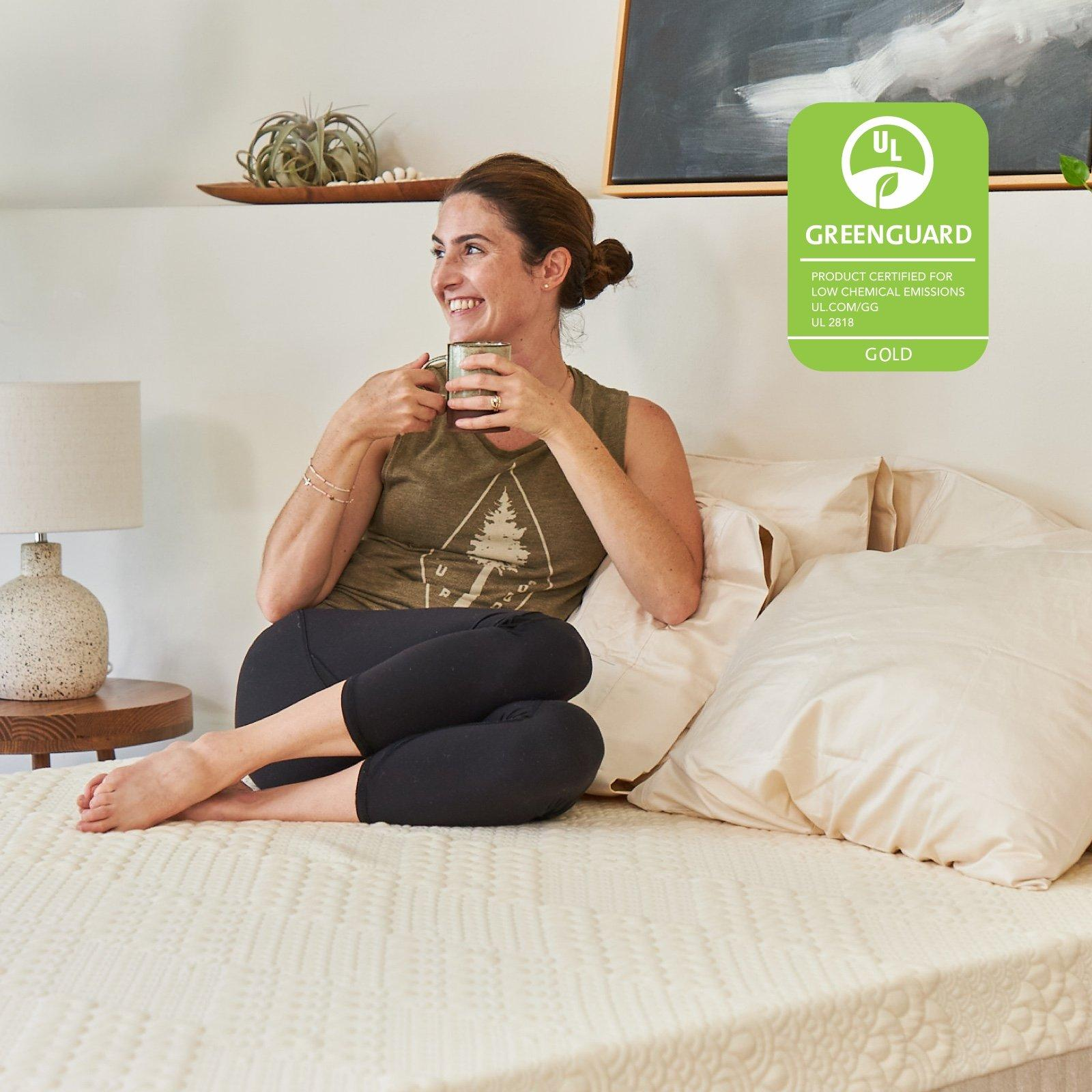 The Brentwood Home Hybrid Latesx is certified by Greenguard Gold. This certification ensures that there are no VOCs offgassing from the mattress that are above an allowable threshold.