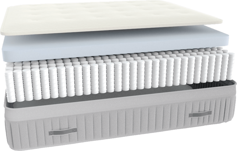 The Awara Organic Luxury Hybrid Mattress features a coil layer made up of 9-inch individually wrapped coils. The coil unit has a reinforced perimeter to prevent roll-off. It will provide the bounce you love, while isolating motion providing support.