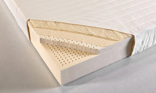 """The Sleep On Latex mattress is made with 8"""" of solid Dunlop Latex Foam, Organic Cotton Fabric and organic wool."""