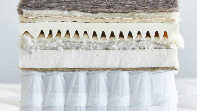 The medium-soft version of the Organic Luxury Plush mattress is 15-inches in thickness.